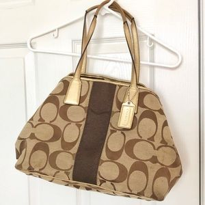Gold and neutral coach original purse